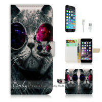 ( For iPhone 7 ) Wallet Case Cover P0123 Party Cat
