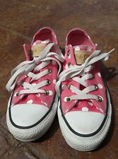 Converse All*Star Chucks Low Top Womens Shoes Size 5 Pink Polka Dot Sneakers