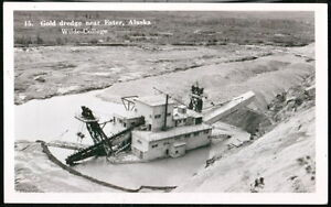 ESTER AK ALASKA Gold Dredge Vintage Wilde College RPPC Postcard Old Real Photo
