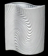 Large White Modern Wavy Twisted Flower Vases Grass Ceramic Pottery Unusual New