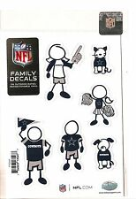 DALLAS COWBOYS Set of 6 Decals Individual Small Family Car Auto Decals NFL New