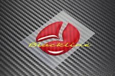 For Mazda 2 3 5 6 RED Carbon Fiber Steering Wheel Emblem Filler Decal 50mm Large