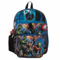 Marvel Avengers Boys School Backpack Lunch Box Book Bag 5 Piece SET Toy Gift Kid