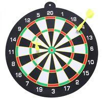 "9"" Inch Dart Board Indoor Dartboard w/ 2 Flights Darts Home Game Set"