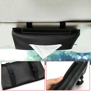 Car Tissue Box Towel Sun Visor Tissue Box Holder Auto Interior Storage Decor
