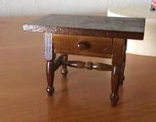 Miniature Wood Desk with Working Drawer
