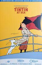 Affiche Herge Tintin at sea Tintin à la mer 40x60 cm