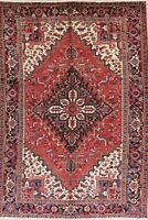 Vintage Geometric Oriental Area Rug Wool Hand-Knotted 7 x 10 Traditional Carpet