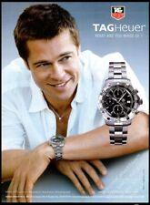 TAG HEUER Aquaracer Chronograph - Brad Pitt - 2006 Print Ad