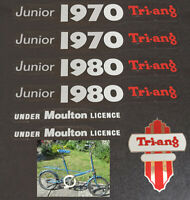 Triang Tri-ang Junior 1970 1980 Moulton Bicycle Bike Vinyl Decals Stickers Set