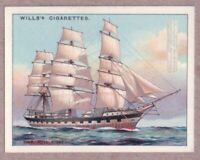 Full Rigged Sailboat Rigging Square Craft 1920s Ad Trade Card