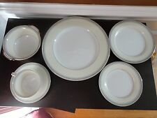 VINTAGE 1950S NORITAKE AUDREY 3078 CHINA 6 PIECE DINNER PLACE SETTING PLATE BOWL