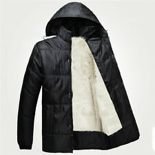 Men's Classical Berber Fleece Jacket Winter Warm Thicken Hooded Snow Coat Plus
