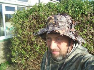 LIGHTWEIGHT 3D LOOSE LEAVES LEAFY SNIPER STYLE CAMO BUSH BOONIE HUNTING HAT CAP