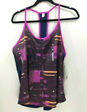 Underarmour Womens Activewear Tank Top Purple and Pink Heatgear Size XL