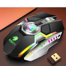 Usb LED Laser Optical Game Gaming Mouse Wireless Rechargable G80 RGB 7 Buttons