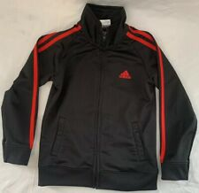 Pre-Owned Boy's Adidas Black And Red Size 6 Track Suite Jacket