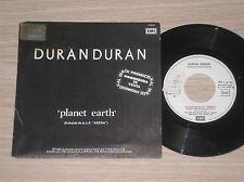 "DURAN DURAN - PLANET EARTH / UNION OF THE SNAKE - RARO 45 GIRI 7"" PROMO SPAIN"
