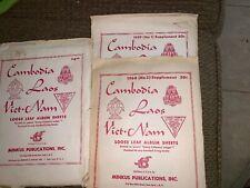 STAMPS MINKUS Vietnam Laos Cambodia LOOSE LEAF ALBUM SHEETS Supplement 1959 60