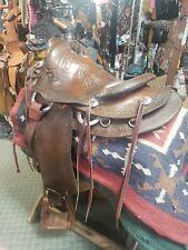 "Vintage Western 13.5"" Saddle By Apache Saddle Co."
