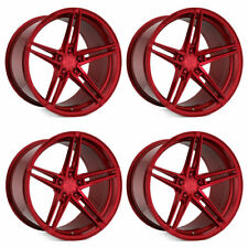 "20"" Rohana RFX15 Red 20x9 Forged Concave Wheels Rims Fits Honda Accord"