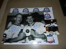 BOBBY HULL STAN MIKITA SIGNED Autographed Blackhawks 100-200 16x20 photo PSA
