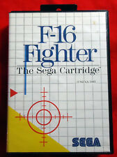 F-16 Fighter-Complete en Box-Sega Master System MS PAL - 1985 Nexa