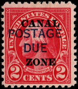 Canal Zone - 1925 - 2 Cents Carmine Overprinted Postage Due Issue #J16 Mint LH