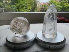 Cristal de roche ; change de couleur (choix); poids des 2: 945gr