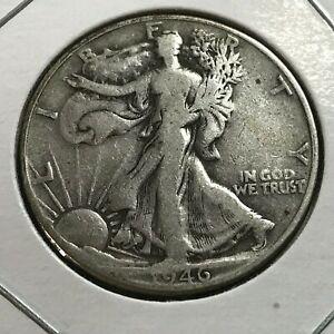 1946 SILVER WALKING LIBERTY HALF DOLLAR BETTER DATE COIN