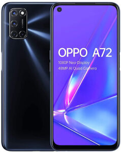 "New Oppo A72 Twilight Black 6.5"" 128GB 5000 mAh Android 10 Sim Free"