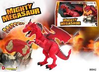 Mighty Megasaur Walking Remote Control Dragons Moving Toy Robot Light Sound NEW