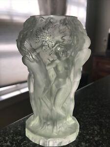 Vintage Lalique Signed Glass Vase