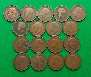 Coins British 1 Penny 1912-1936