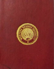 LUX Western Reserve University Seal Antique c1910 Red Leather Tobacco Premium