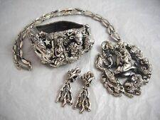 Vintage Tortolani Silver Semi-Parure Zodiac Set AMAZING!!!!