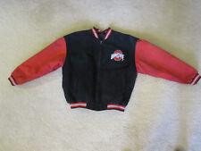 Ohio State Buckeyes Quilt Lined Leather Suede Varsity Bomber Jacket Mens Large
