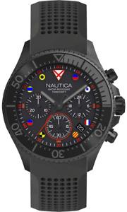 NAUTICA Men's Westport Chronograph Black Silicone Strap Watch - NAPWPC003