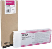 GENUINE EPSON T6063 VIVID MAGENTA INK CARTRIDGE EPSON ULTRA CHROME C13T606300