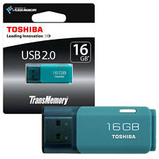 16GB Toshiba TransMemory USB 2.0 Memory Stick USB 2.0 Flash Drive AQUA 16GB