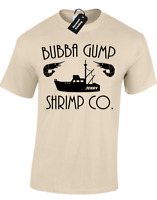 BUBBA GUMP SHRIMP MENS T-SHIRT FUNNY FORREST GUMP RETRO FILM JENNY VINTAGE