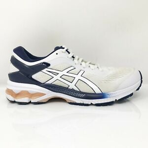 Asics Womens Gel Kayano 26 1012B025 White Blue Running Shoes Lace Up Size 8.5