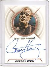 Star Trek Enterprise Season 2 Gregg Henry as Zho'Kaan Signed Trading Card #A12