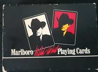 VINTAGE Marlboro Man Wild West cowboy poker playing cards 2 decks COOL!!