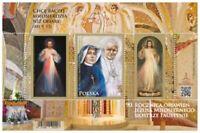 Poland 2021. Pope John Paul II. Sister Faustina. Souvenir Sheet. MNH**