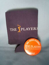 Players golf tournament memorabilia Bottle Cozy & 1991 Nbc Press Badge pass