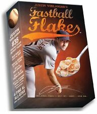 """JUSTIN VERLANDER'S """"FASTBALL FLAKES"""" LIMITED EDITION CEREAL FULL HOUSTON ASTROS!"""