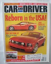 Car And Driver Magazine February 2004- Mustang GT, Corvette