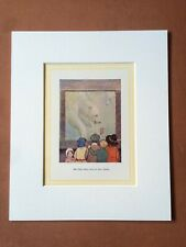 1937 Polar Bear Original Vintage Print Margaret Tarrant Children Zoo
