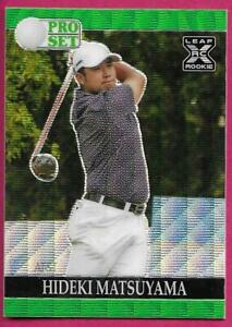 2021 Leaf Pro Set Metal Golf HIDEKI MATSUYAMA Rookie Card #GS-03 Green Wave 1/20